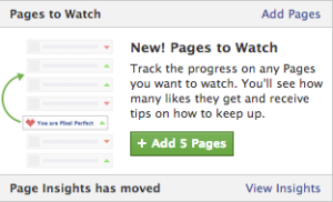 Добавяне на пет конкурентни Facdebook страници за следене