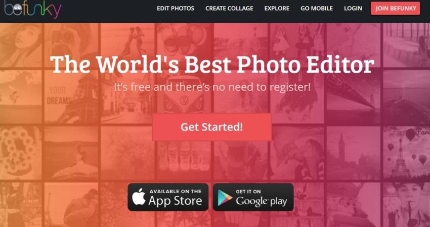 Ценни онлайн инструмента за редакция на изображения - Befunky