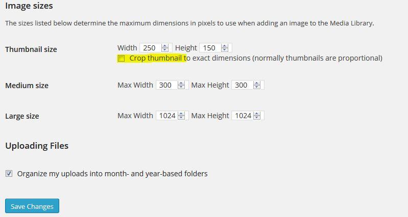 Оразмеряване на WordPress thumbnails (миниатюри)