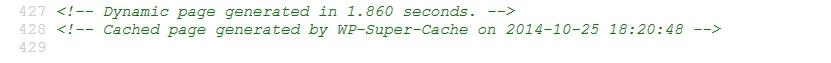 Проверка на WP Super Cache