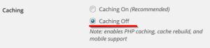Спиране на кеширането чрез WP Super Cache