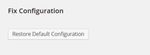 Възстановяване на default настройките на WP Super Cache