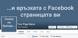 Смяна на търговската марка и връзката с Facebook страницата ви - три варианта
