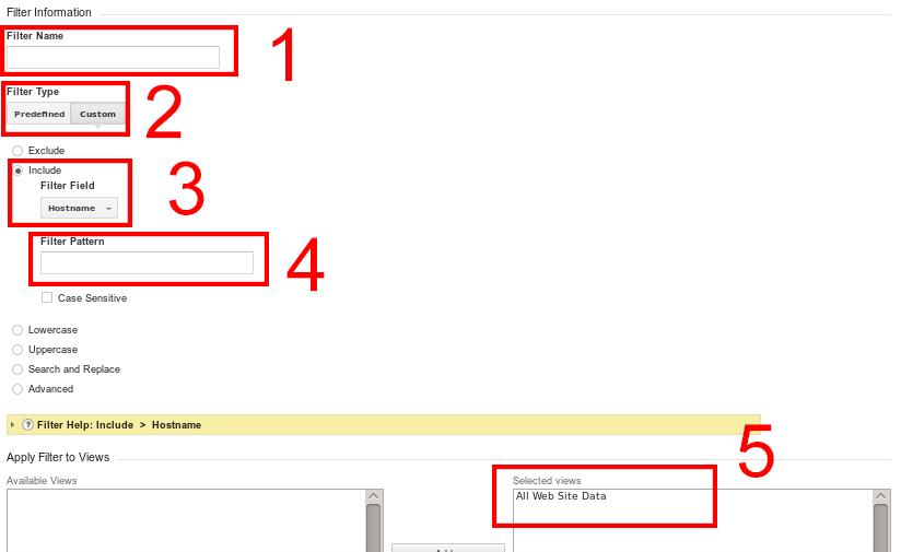 Създаване на include филтър в Google Analytics с цел премахване на ghost spam статистики.