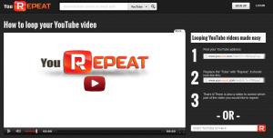 Yourepeat.com онлайн инструмент за повтаряне (repeat) на YouTube видеа и създаване на анимирани GIF файлове