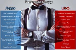 Кое от двете описания отговаря на вашата същност? Лидер или шеф?