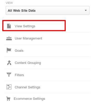 Site Search се настройва като отидете във View Settings за съответния профил в Google Analytics