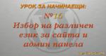 Различен език за сайта/админ панела в WordPress