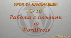 Работа с плъгини (разширения) за WordPress