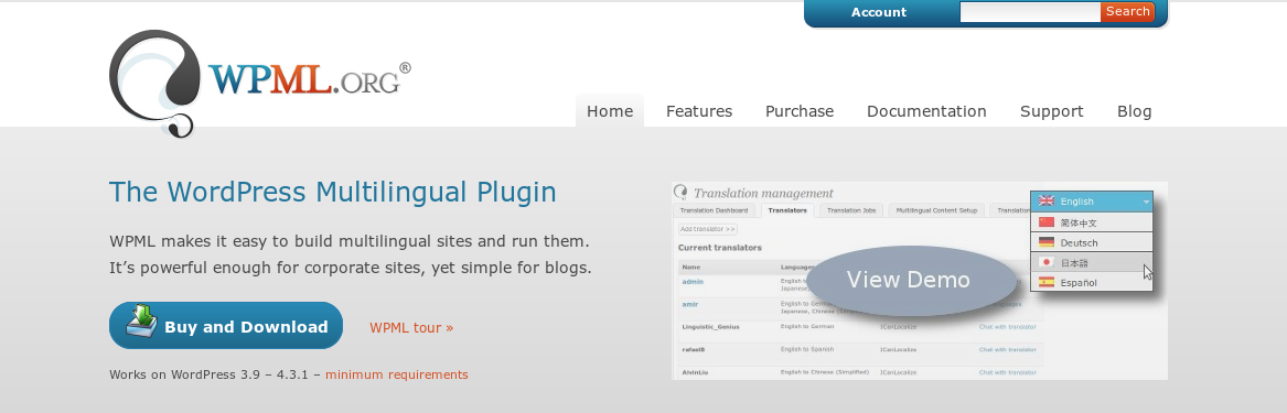 WPML - може би най-добрият плъгин за многоезичност при WordPress
