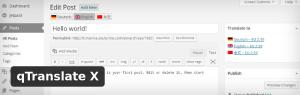 qTranslateX - Плъгин за многоезичност за WordPress