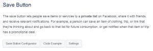 Конфигуратор за бутона за запазване на информация във Facebook (Save Button)