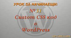 Начини за добавяне на Custom CSS код в WordPress