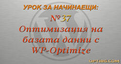 Оптимизация на WordPress база данни с WP-Optimize