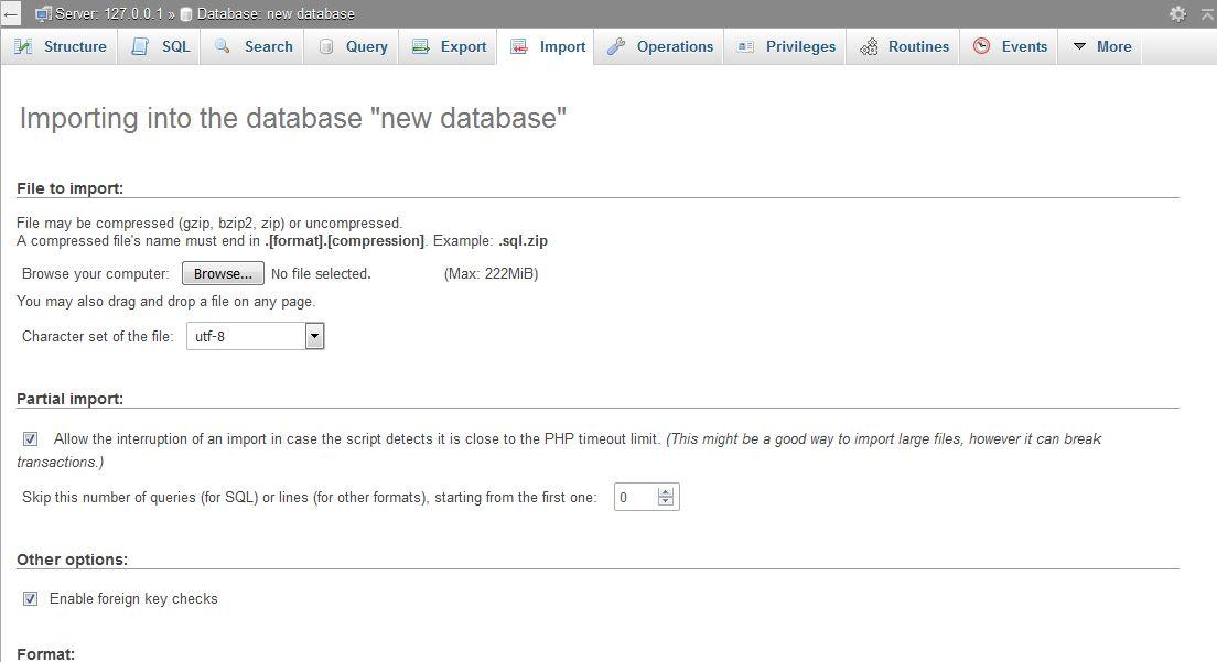 Важна стъпка при ръчното преместване на WordPress на нов хостинг е да се импортира базата данни в phpMyAdmin