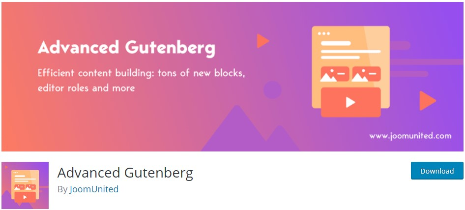 Още блокове за Гутенберг чрез разширението Advanced Gutenberg