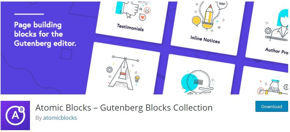 Чудесна колекция от блокове за Гутенберг чрез плъгина Atomic Blocks