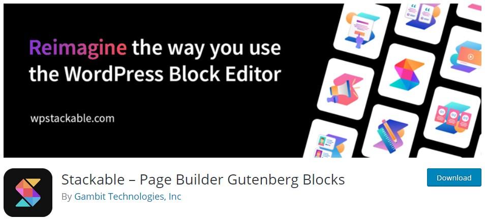 Постигни page building experience с мощните блокове за Gutenberg от Stackable – Page Builder Gutenberg Blocks